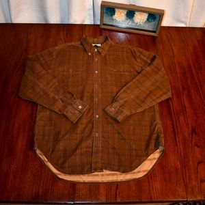 Tommy Bahama Men's XL Button Down LS Shirt, Brown.